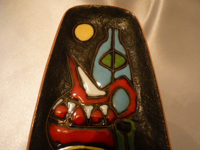 wandschale italien um 1950 rsm keramik antiquit ten oschatz meissner porzellan elfenreigen. Black Bedroom Furniture Sets. Home Design Ideas